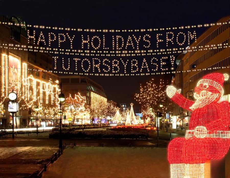 Enjoy the holidays happy holidays from tutors by base