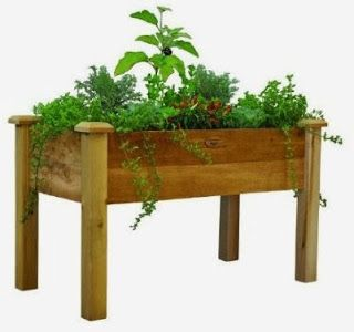 Best Rustic Elevated Garden Bed Gift Idea For Mom.