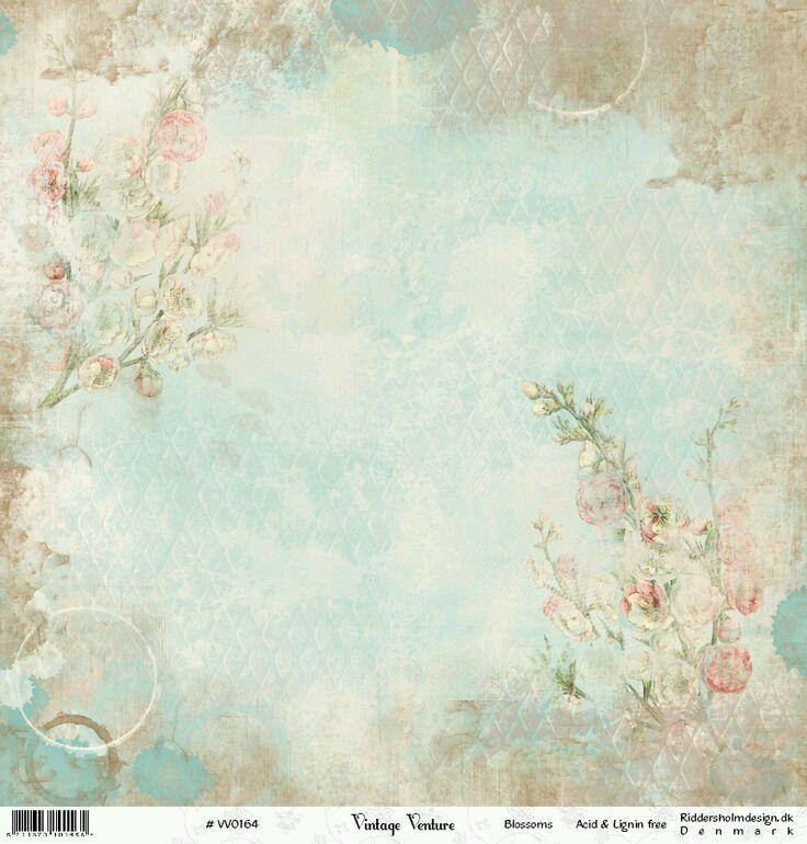 Light Blue Floral Background Paper Background Background Vintage Vintage Paper