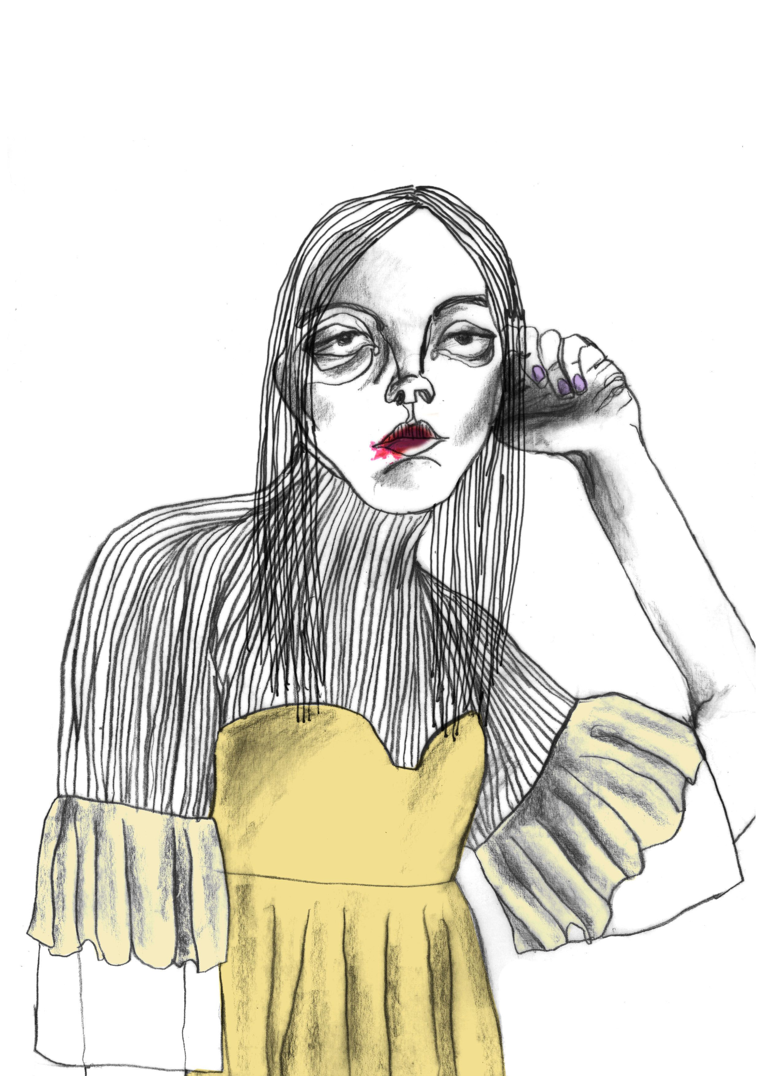Fashion Design Graduate From University Of Westminster Specialising In Womenswear Print Textile Fashion Illustration Sketches Fashion Illustration Illustration