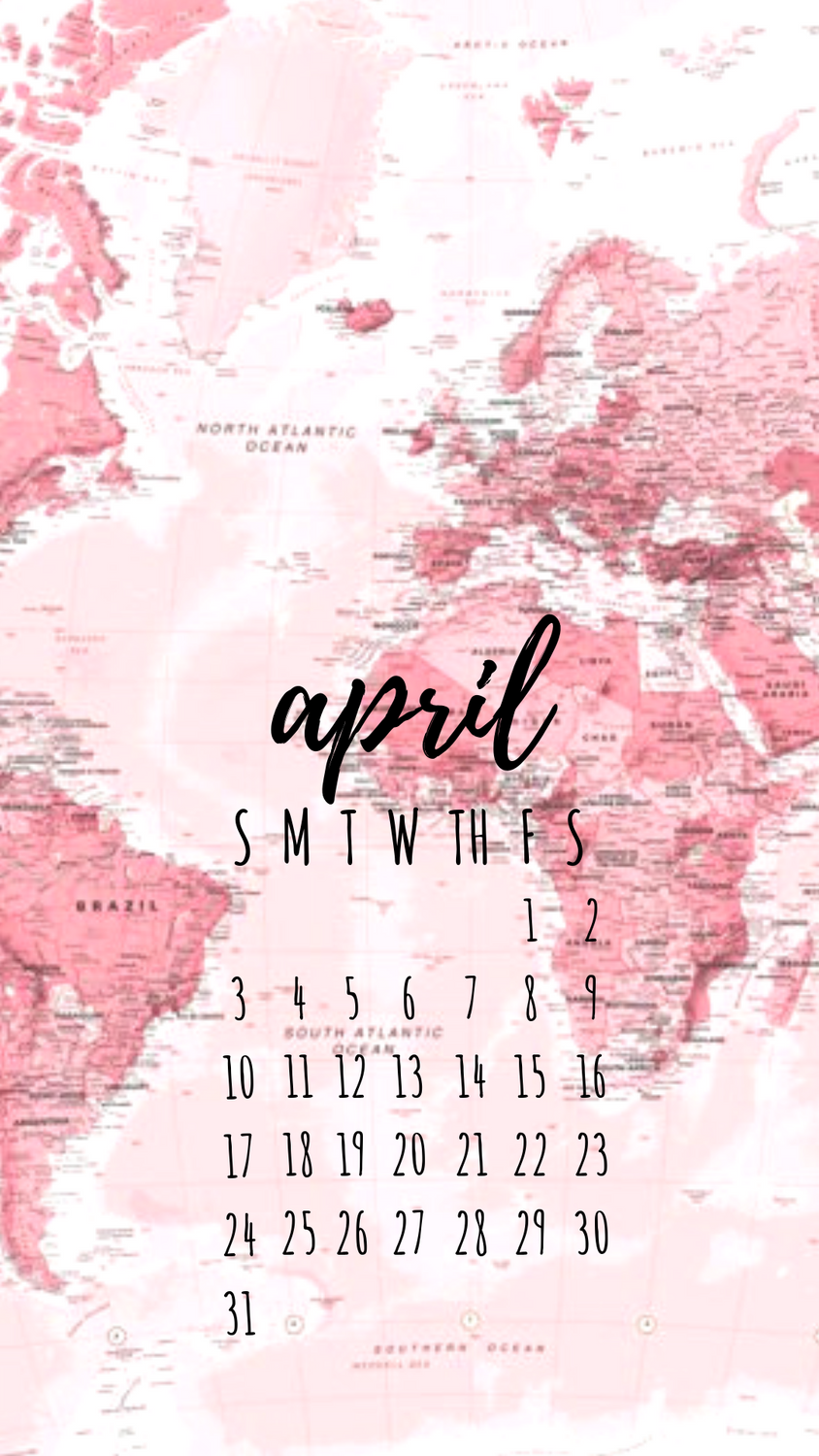 April 2019 Calendar Wallpaper Background Calendar Wallpaper