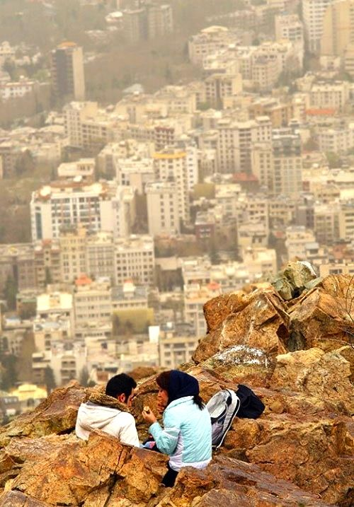 Overlooking Tehran, Iran