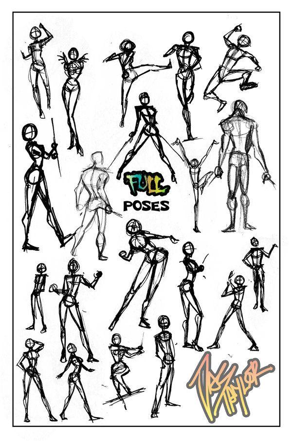 POSES- Full by ElementJax.deviantart.com on @deviantART