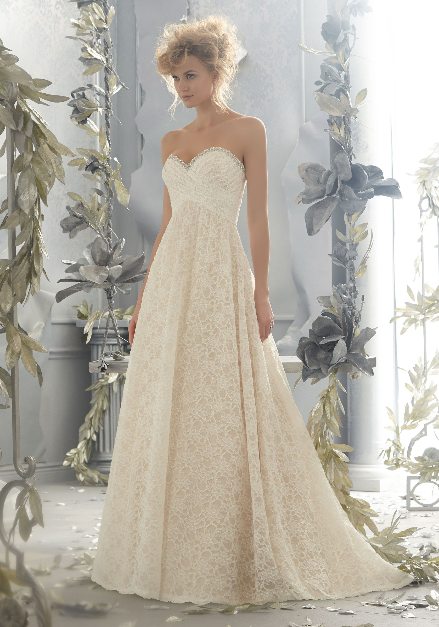 Diamante Beading on a Poetic Lace Wedding Dress Designed by Madeline ...