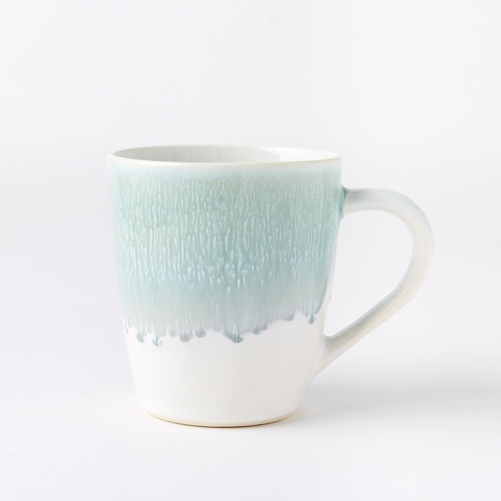 Reactive Glaze Mugs (Set of 4)  Dusty Mint is part of Unique Home Accessories West Elm - Bring something special to the table for every meal with our Reactive Glaze Dinnerware  Finished with a reactive glaze—a technique admired for its variegated coloring—each piece is subtly oneofakind