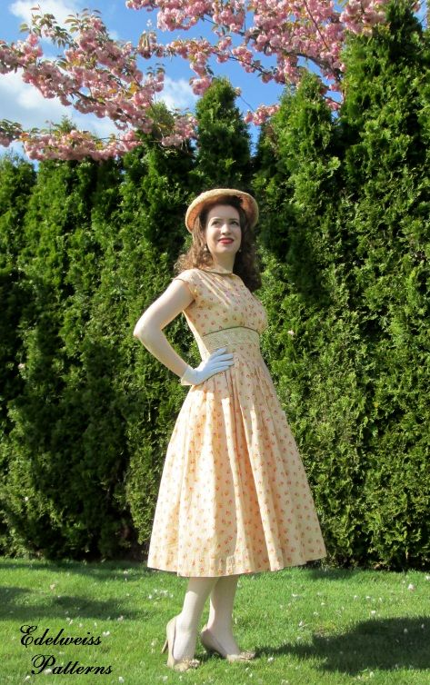 a 1950s easter dress edelweiss patterns in 2019