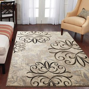 Better Homes And Gardens Iron Fleur Area Rug Beige Area