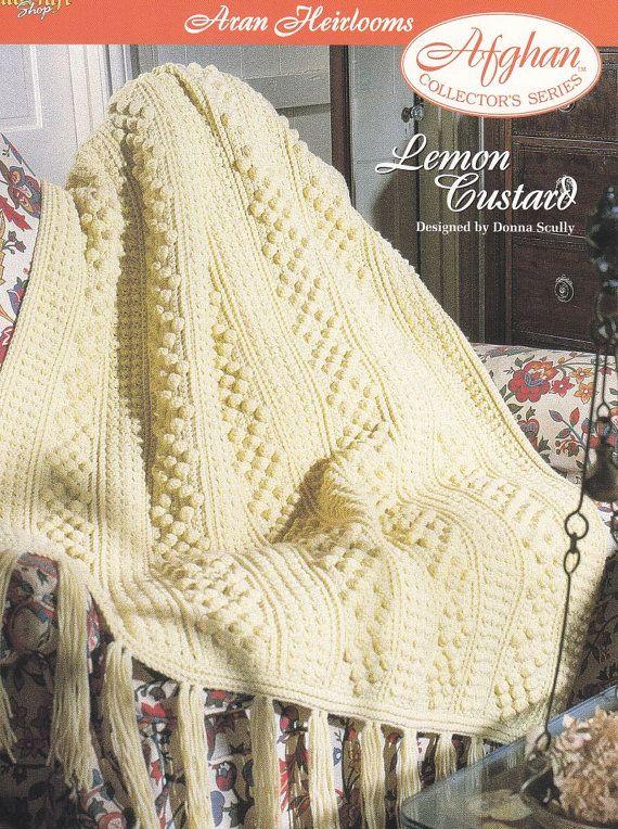 Aran Afghan Crochet Pattern - Lemon Custard Aran Heirlooms   Crochet ...