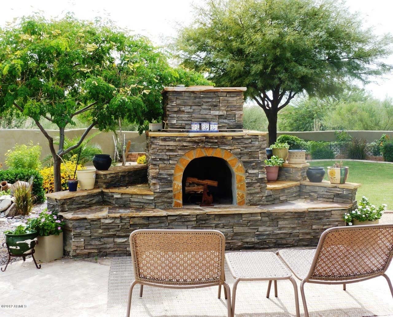 Outside Stone Fireplace Ideas: Creative Ideas Outdoor Fireplace Designs