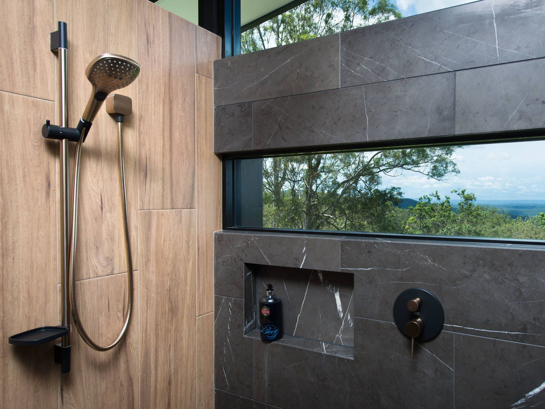 Axor Mixers In Brushed Black Chrome In The Shower Dusche