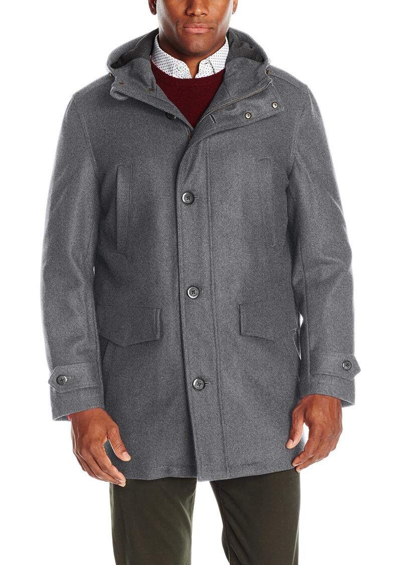 London Fog Men S Wool Blend Bench Warmer Coat With Attached Hood Shopinzar Com Men S Coats And Jackets Warm Coat Mens Wool Coats [ 1127 x 800 Pixel ]