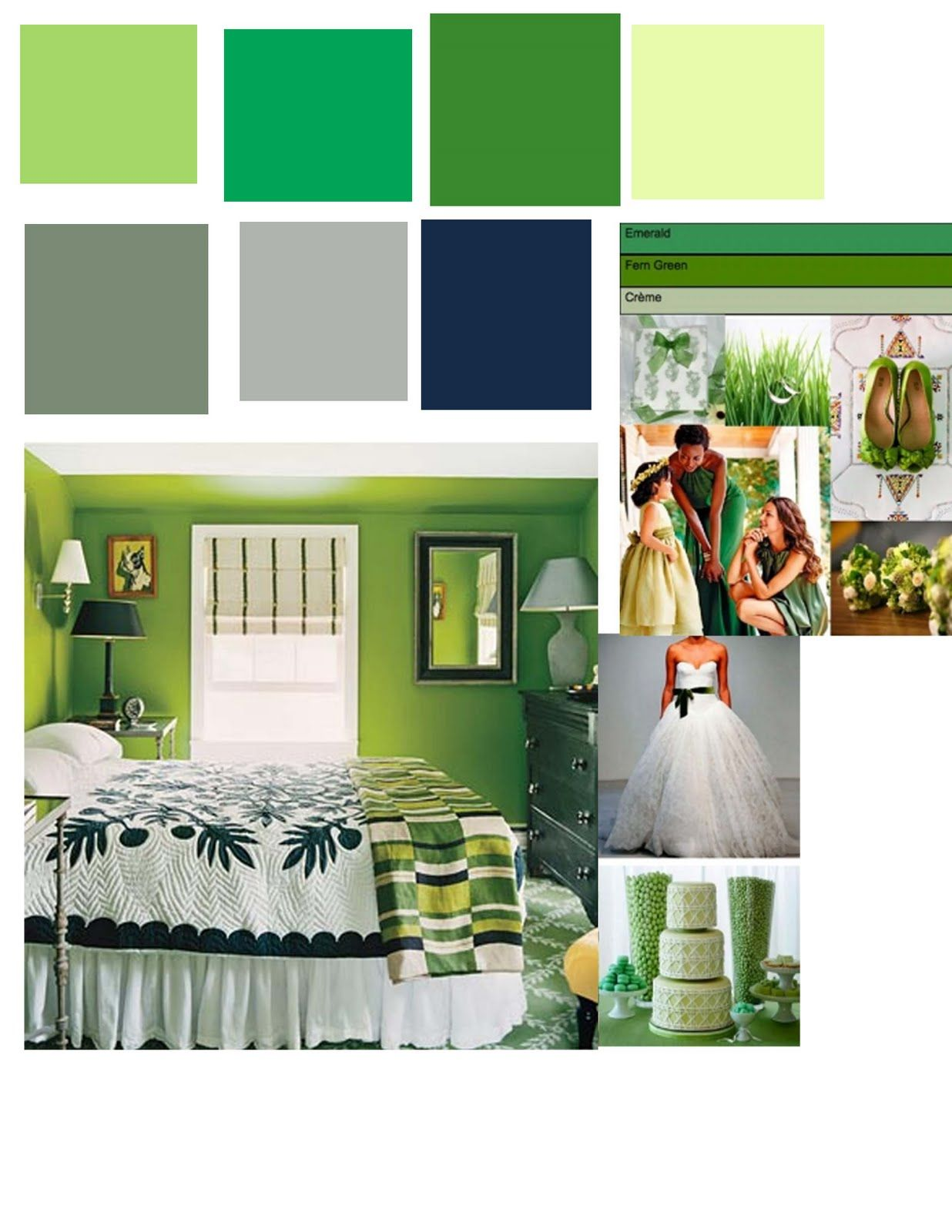 Love This Color Palette For The Bedroom, The Green On The Upper Left Along  With