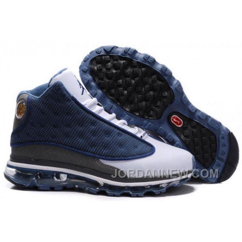 promo code 398b2 ecbe5 ... canada mens nike air max jordan 13 shoes white dark grey blue discount  88api d60f7 f6b12