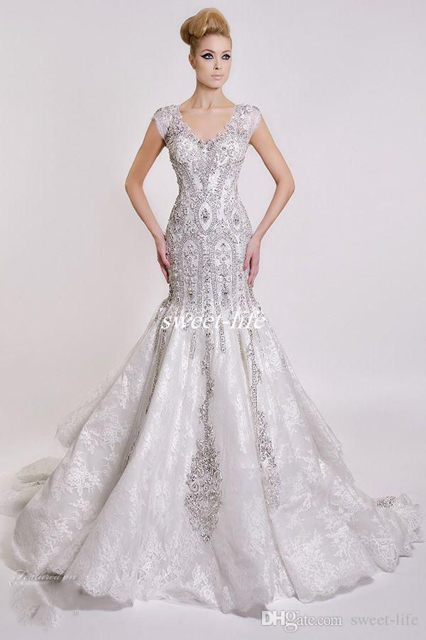 0d949b8356 Dar Sara Luxury Formal Mermaid 2016 Wedding Dresses Crew Neck ...