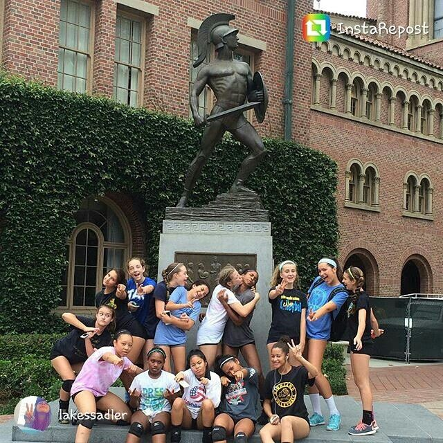 Panthers At Usc Volleyball Camp Allie Mia Kami Jaylin Volleyball Camp Volleyball Usc