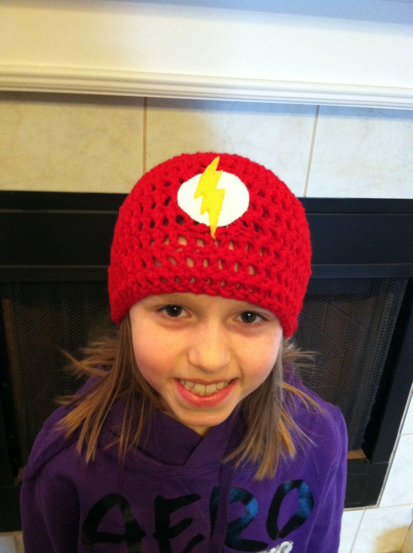 Flash Superhero Crochet Beanie | Crochet | Pinterest