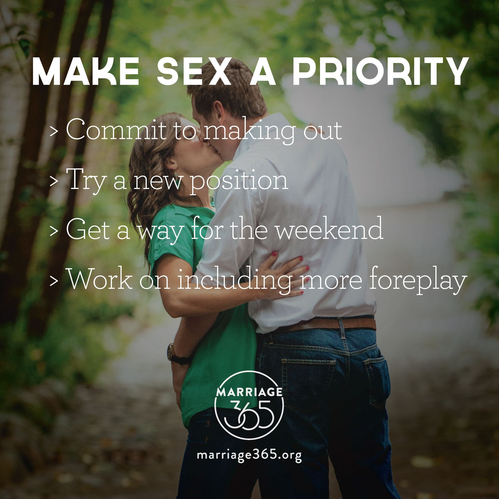 Make Sex A Priority In Your Marriage Seeks To Inspire