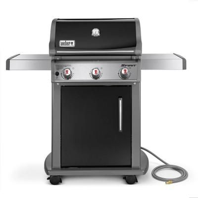 Weber Spirit E 310 3 Burner Natural Gas Grill In Black With Built In Thermometer 47510001 In 2020 With Images Natural Gas Grill Weber Gas Grills Gas Grill Reviews