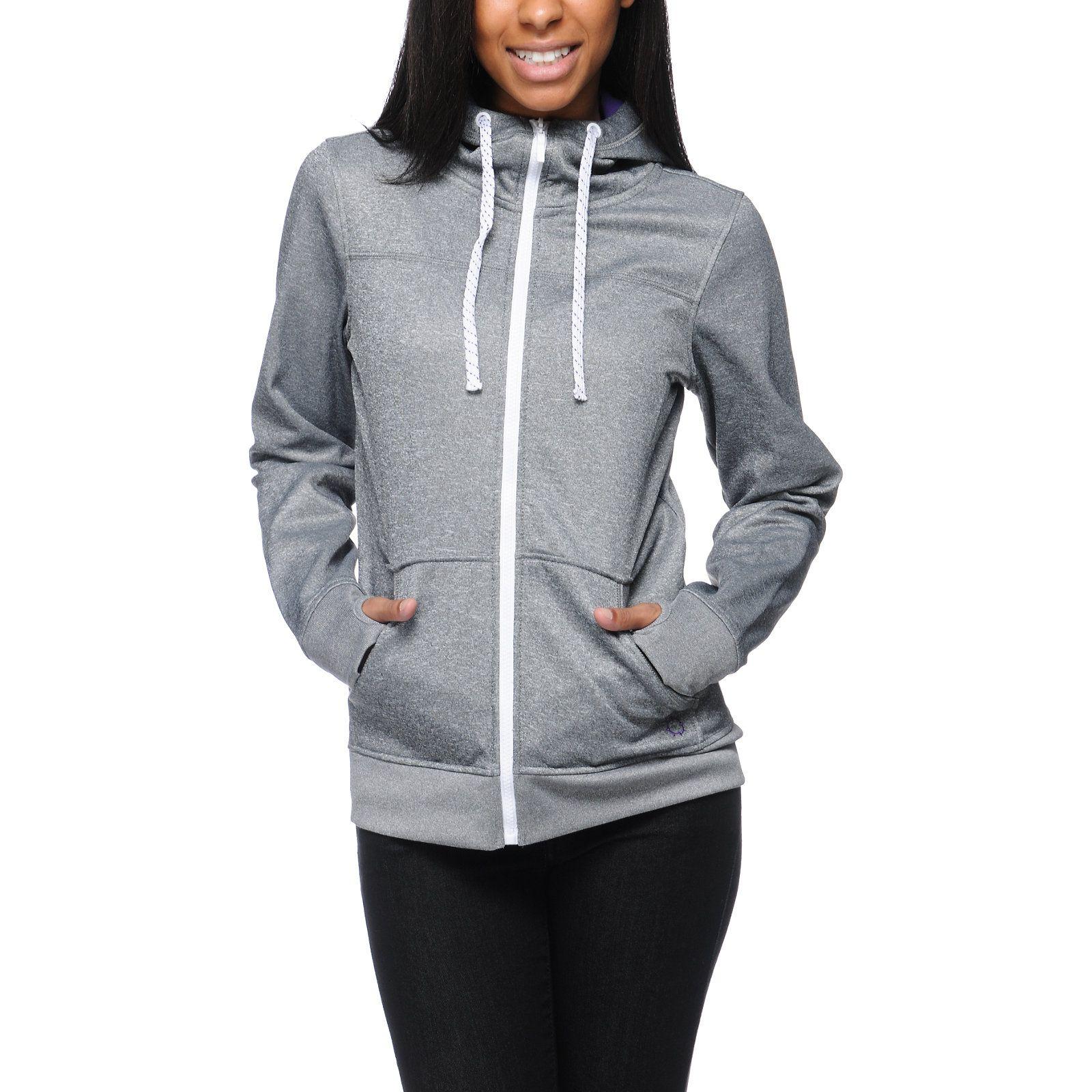 Empyre Essential Black Speckle Full Zip Tech Fleece Jacket