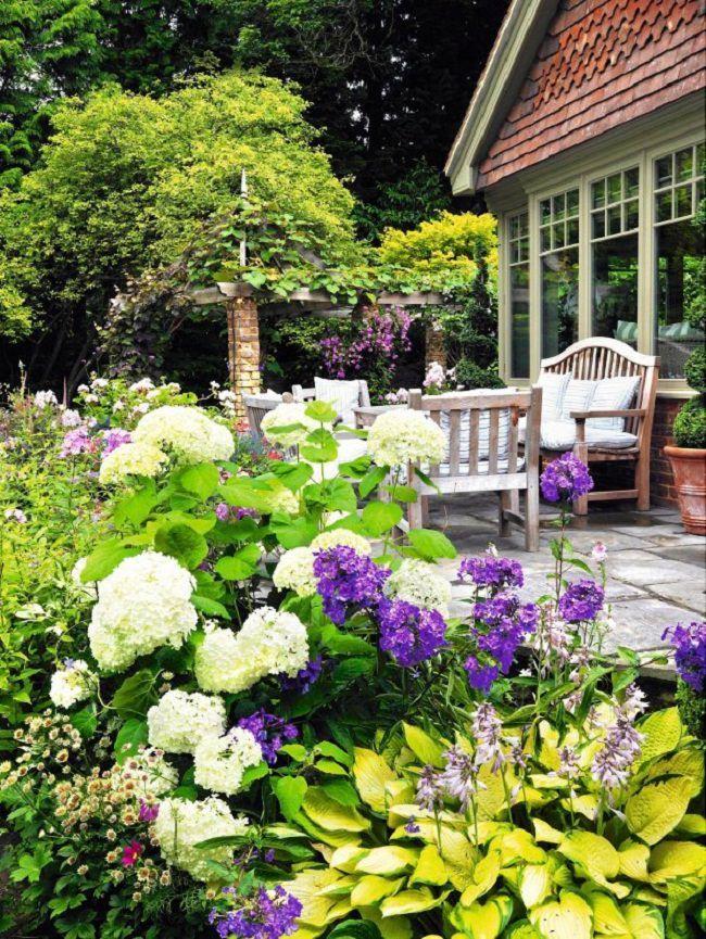 Landscaping With Hydrangeas Hydrangea Landscaping Landscape Design Garden Design