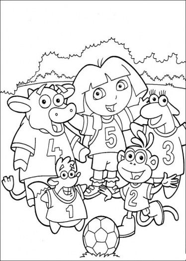 Dora coloring page | Soccer Coloring Pages | Pinterest | Adult ...