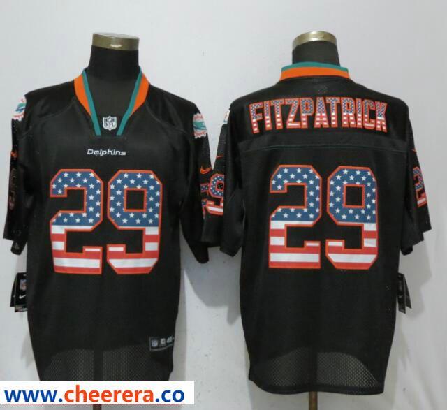Me s Nike Miami Dolphins 29 Minkah Fitzpatrick Black USA Flag Fashion Elite  Jersey a9ab434dd