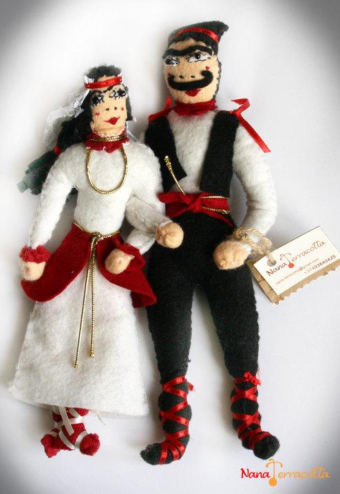 Armenian dolls Wedding wool felts.. Armenian Dolls on Etsy
