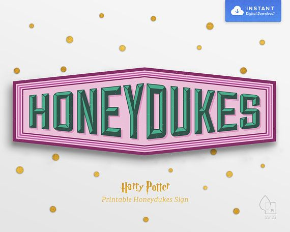 graphic about Honeydukes Sign Printable known as Harry Potter Occasion Printable Honeydukes Indication Products and solutions