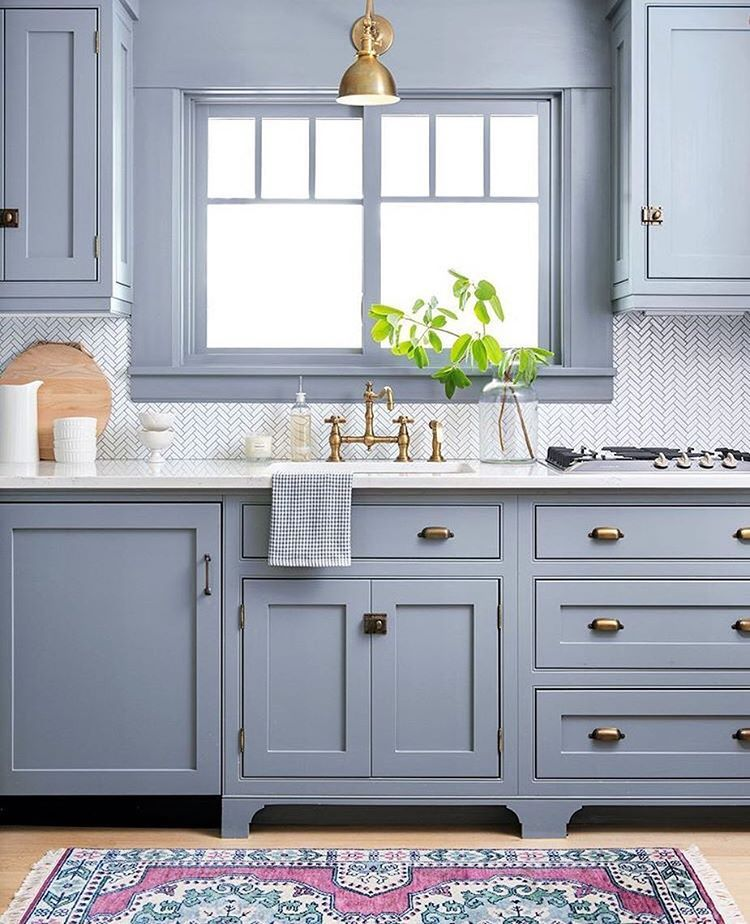 loving this powder blue kitchen cabinet color see this instagram photo by o farmhouse on kitchen cabinets blue id=63279