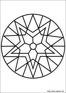 11 Mandalas Para Colorear Con Figuras Geometricas 7 Mandalas