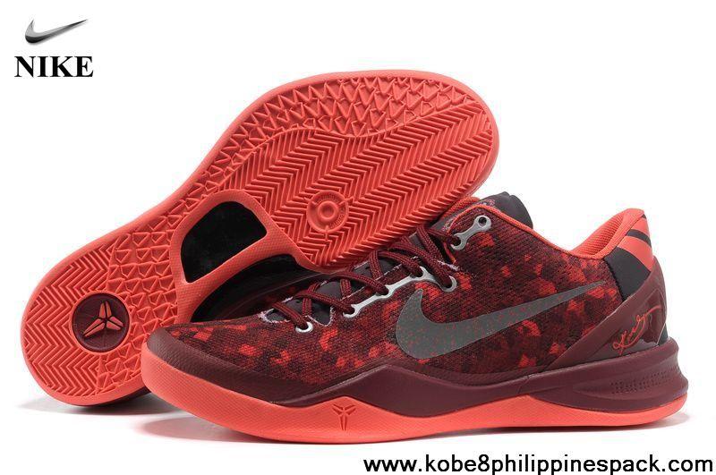 555035-661 Burgundy Nike Zoom Kobe 8 (VIII) Fashion Shoes Store ... 614892c36c59