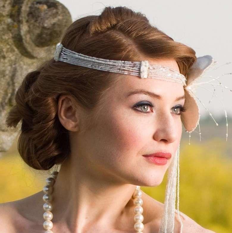 Idee acconciature da sposa per capelli medi   Vintage ...