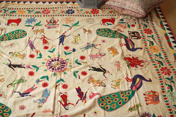 Gorgeous antique Indian embroidery