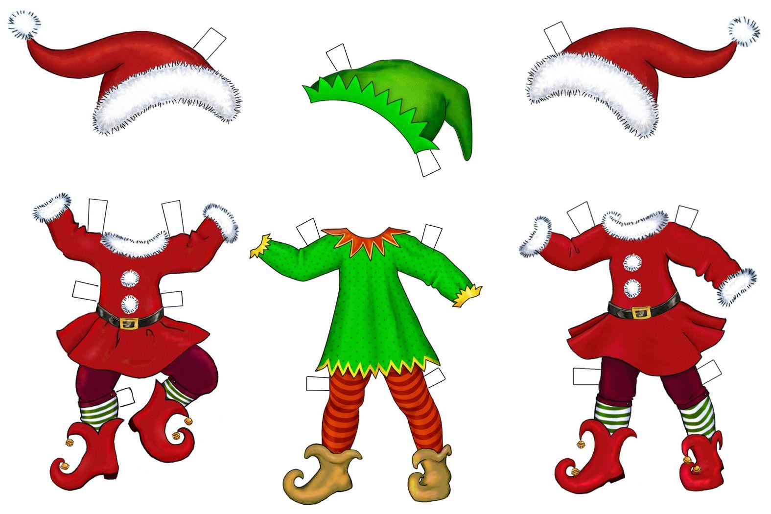 Happy Elves Paper Dolls