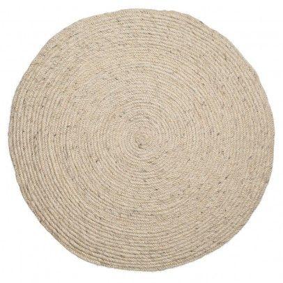 Teppich mit Franzen Maulwurfsfarben | Runde teppiche, Babyzimmer ...