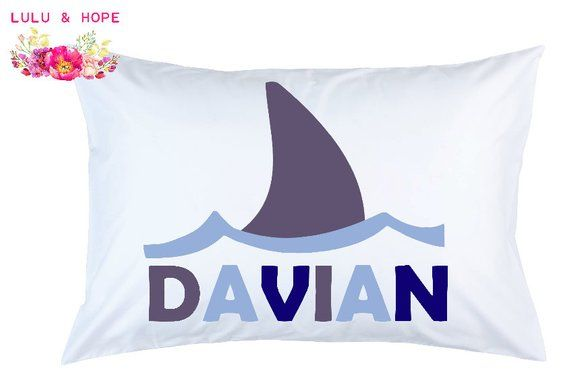 1b4cfc2fb47 Shark Pillowcase Shark Fin Personalized Pillowcase Shark Travel ...