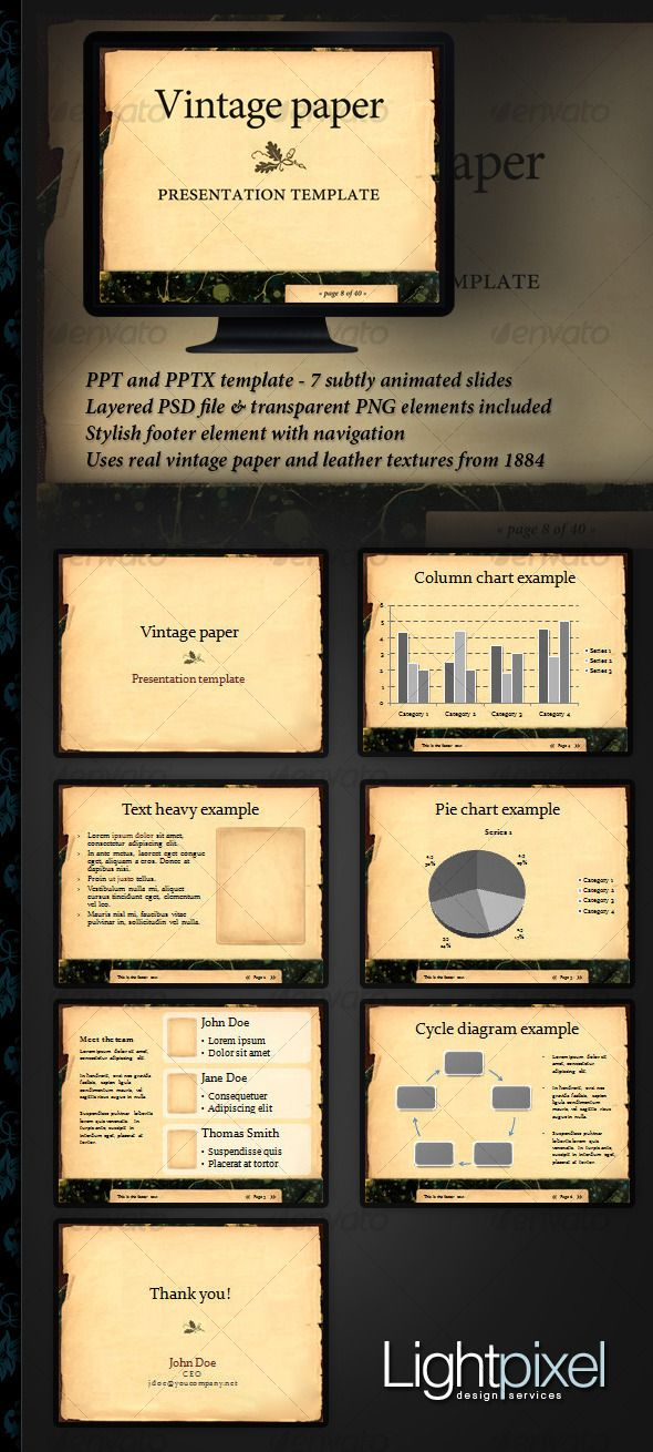 Vintage Paper Presentation Template Graphicriver Ppt And Pptx