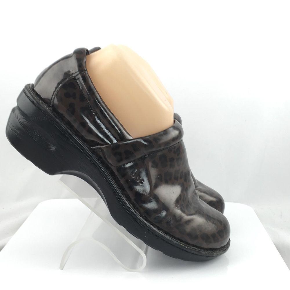 230801108 BOC Born Concept Womens Clogs size 9 M Brown Leopard Print casual work shoes