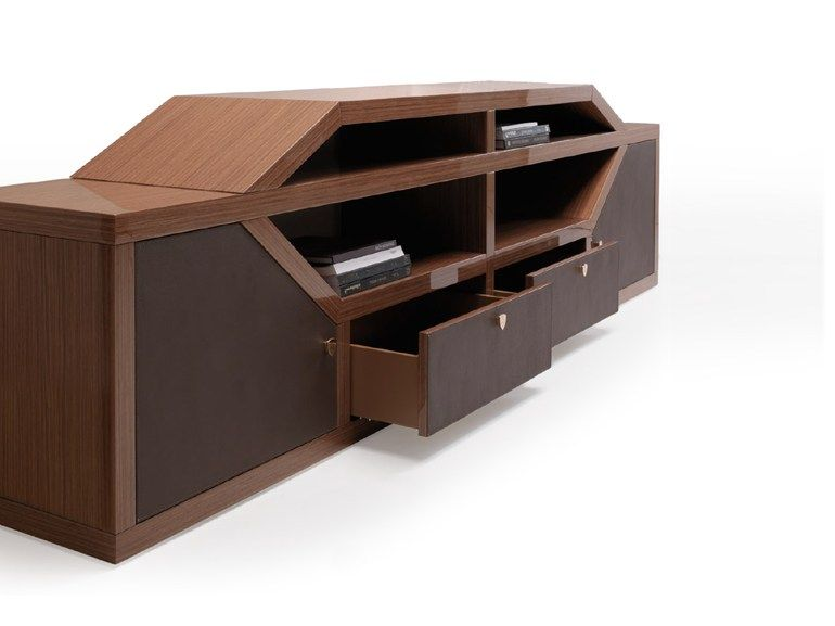 LONG BEACH | Office storage unit with hinged doors Long Beach Collection By Tonino Lamborghini Casa  sc 1 st  Pinterest & Low wood veneer office storage unit with hinged doors LONG BEACH ...