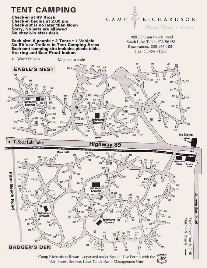 Camping in South Lake Tahoe - Camp Richardson | Camping ... on lane county oregon map, camp richardson lake tahoe, camp richardson bike trail map, camp richardson rv map, richard camp camp map, lake tahoe map,