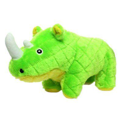 Mighty Safari Rhinoceros Durable Dog Toy Mt S Rhino Grn Dog