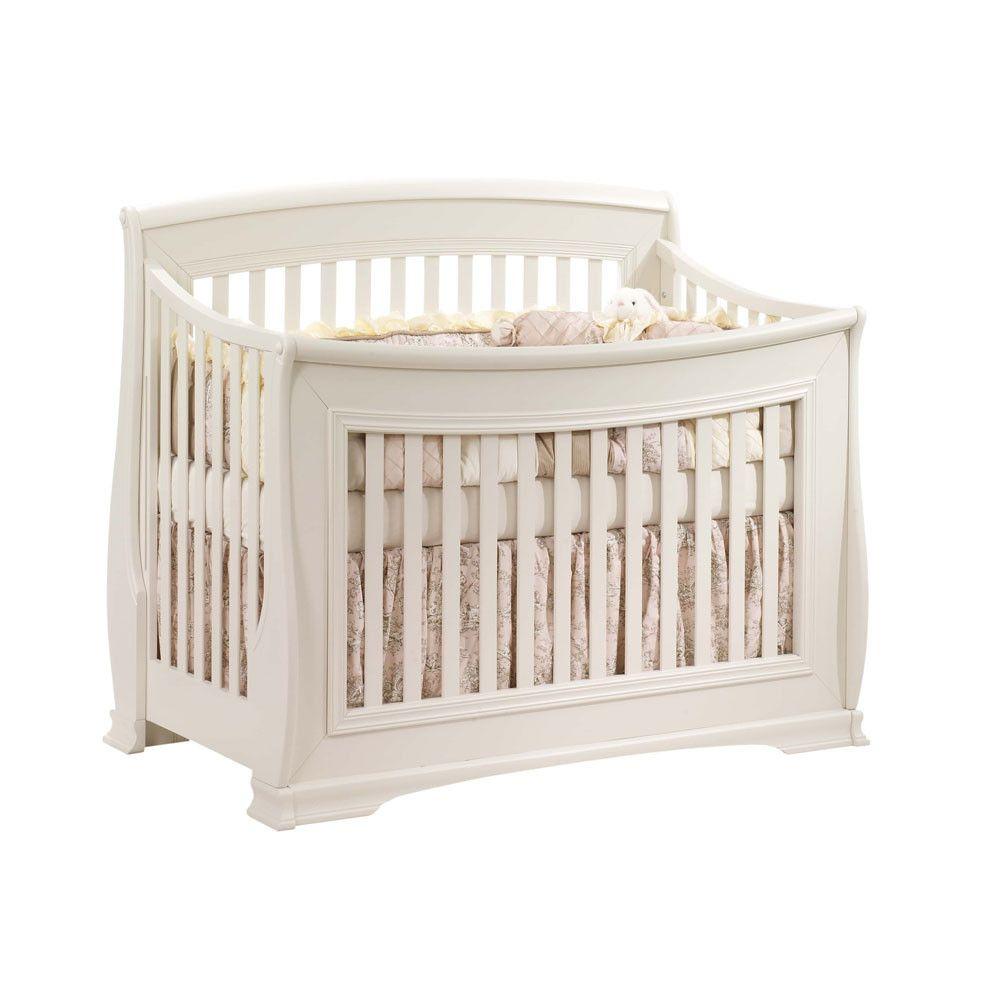 Natart Bella Collection Convertible Crib In Linen Cribs Nursery Furniture Furniture
