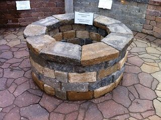 Fire pit. I'd prob not make as tall.