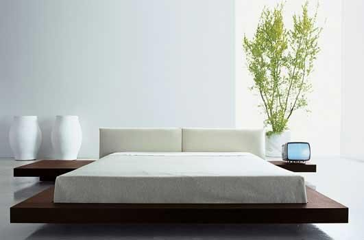 Diferena entre cama moderna japonesa e tapi a ausncia da