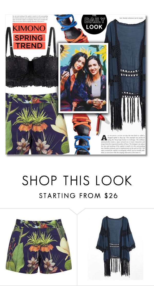 """Kimono Cool"" by dolly-valkyrie ❤ liked on Polyvore featuring Penfield, Do Everything In Love, Pierre Hardy and kimonos"