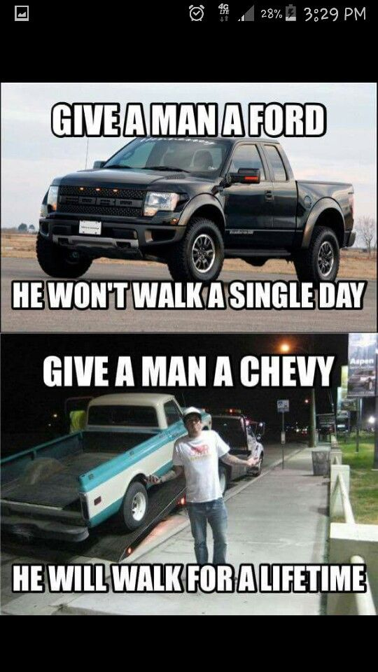 Love Ford With Images Truck Memes Chevy Memes Chevy Jokes