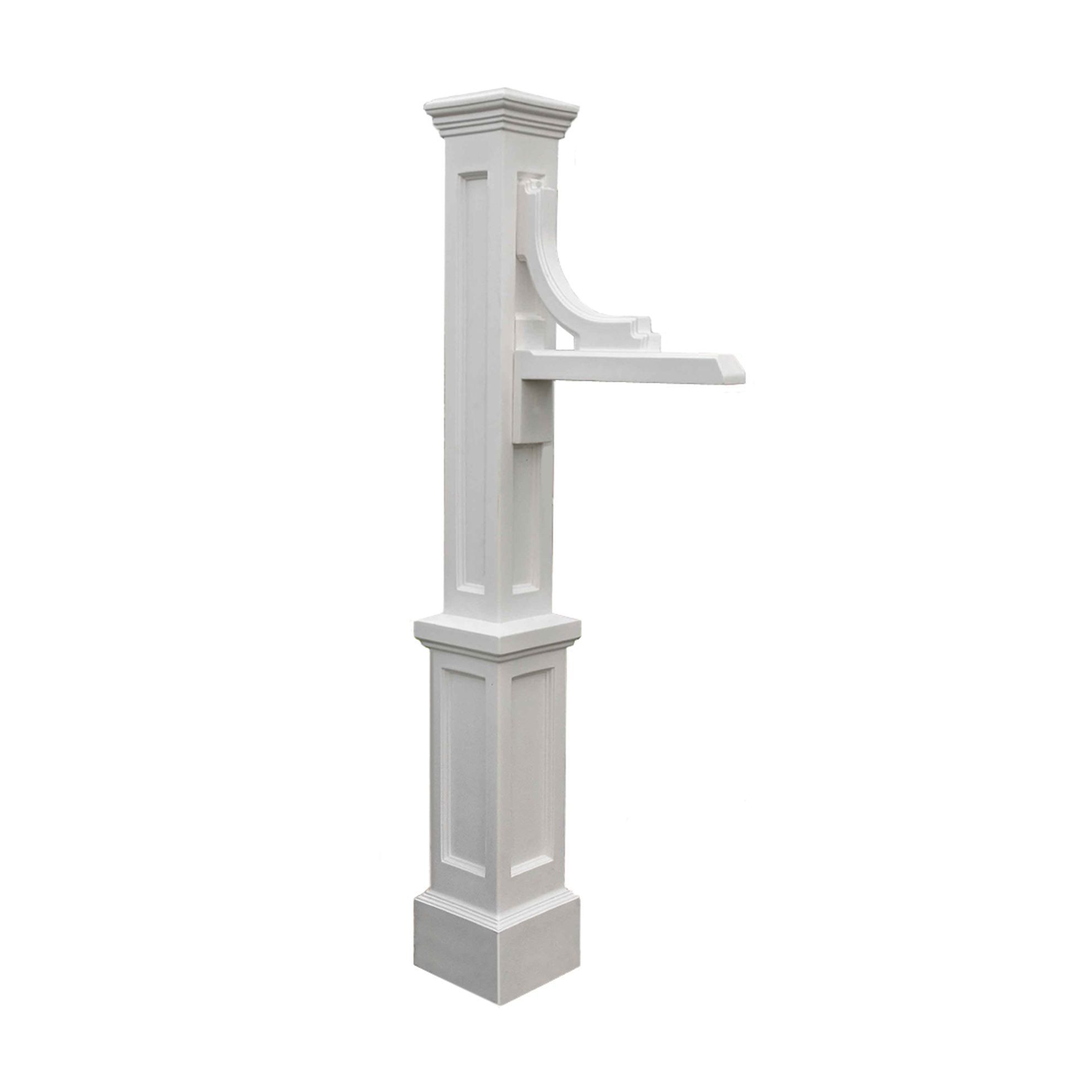 Woodhaven Address Sign Post White Address sign post