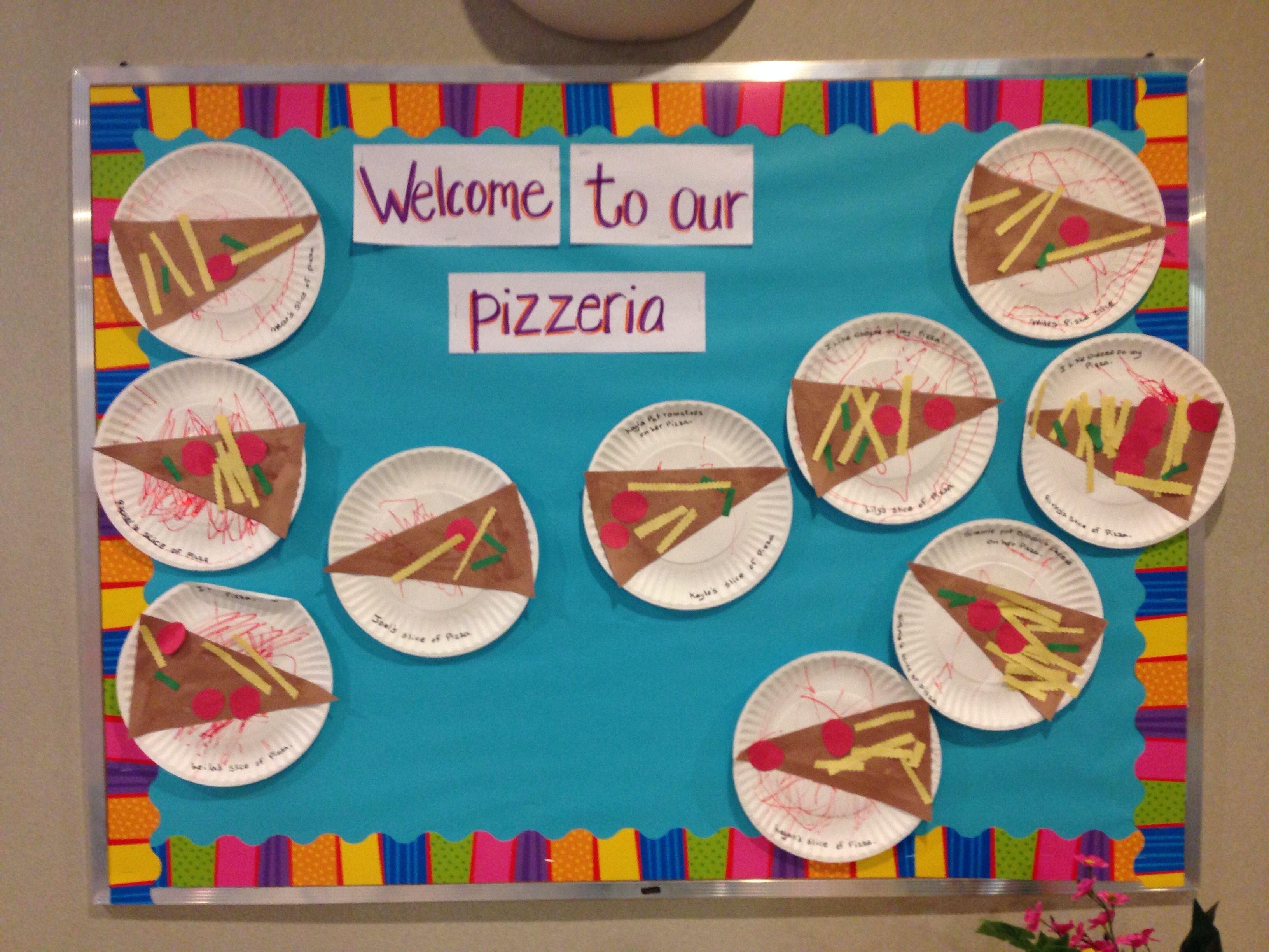 Imagination Week Pizza Bulletin Board