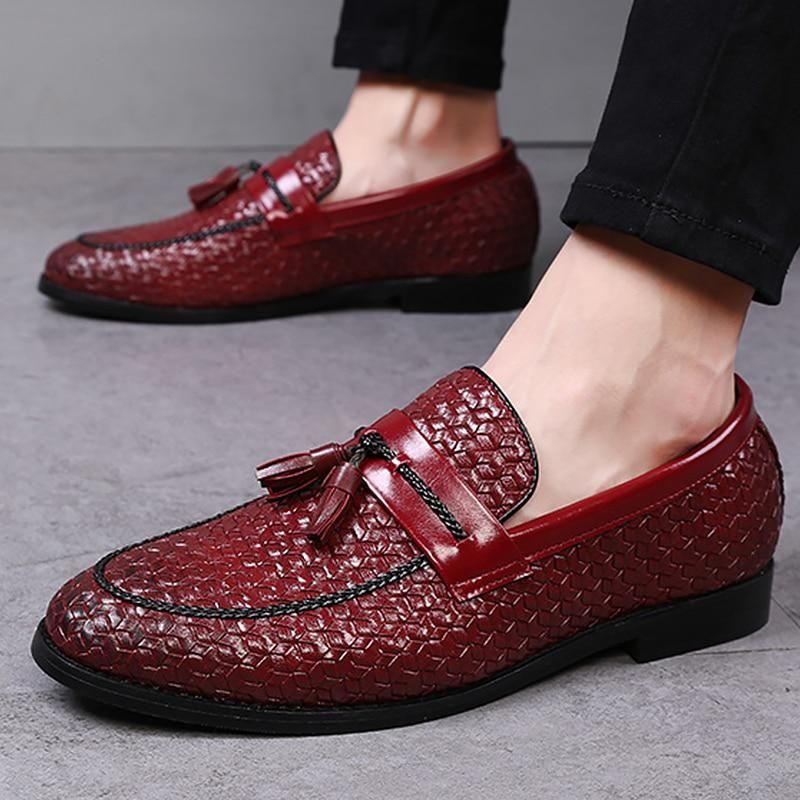 Men's shoes weaving tassels men shoes