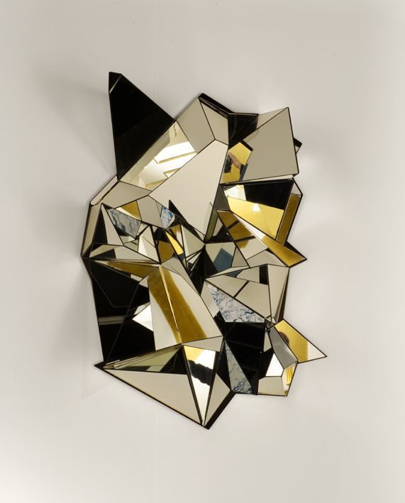Miroir mercure designer mathias kiss finition bronze for Miroir enigma